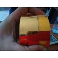 Jual Pita Coding Ribbon Tape 3x120cm Gold