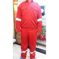Jual Wearpack Baju Celana warna merah