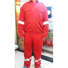 Wearpack Baju Celana warna merah
