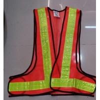 Jual pakaian safety - Rompi Jala  V orange