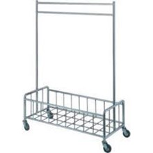 (Perabot Hotel) (Troli Hotel)  EX: Laundry Delivery Trolley + Deck