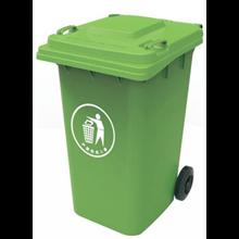 Plastic Wheel Bin Dark Green 240L