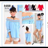 Jual  Baju Atasan Wanita Material Bubble - 6 Warna