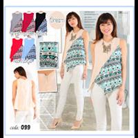 Jual Baju Atasan Wanita Bubble - 6 Warna