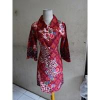Jual Batik Motif Bunga - Dress W1183
