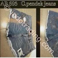 Jual Celana Pendek Jeans Wanita Korea Ab 695