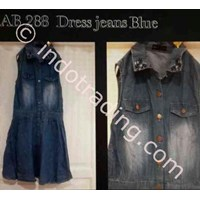 Jual Dress Jeans Blue Wanita Korea Ab 288