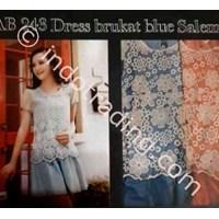 Dress Brukat Blue Salem Wanita Korea Ab 243