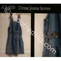 Dress Jeans Wanita Korea Ab 605