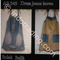 Dress Jeans Wanita Korea Ab 543