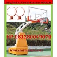 Jual Ring Basket Portable Stadart Perbasi dan FIBA