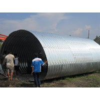 Buy Corrugated Steel Pipe Multi Plate Pipe Arches 4DA