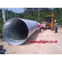 Jual Corrugated steel pipe Armco Culvert Type Nestable Flange