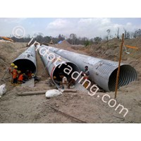 Jual Corrugated steel Armco Multi plate pipe