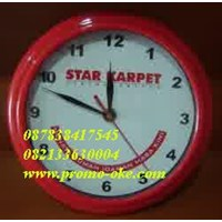 Sell Promotional wall clock red color print company logo