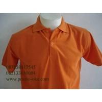 Kaos kerah orange jeruk