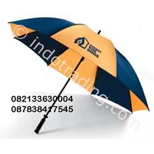 Payung Golf Orange Hitam Promosi