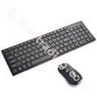 Keyboard 2.4Ghz Wireless Ultra-Thin Keyboard Combos ( Black )