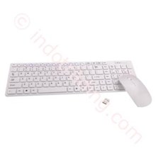 Keyboard 2.4Ghz Wireless Ultra-Thin Keyboard Combos ( White)