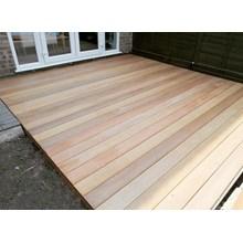 Lantai Kayu Decking Ukuran Jumbo (Timber Decking)