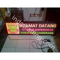 Jual Running Text Display (Multi Color)