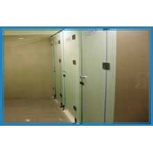 Glass Cubicle Toilet Partisi Cubicle Toilet