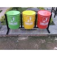 Tong Sampah Drum 3 Pilah