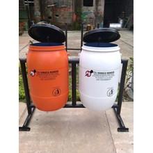 tempat sampah drum plastik 120 liter