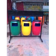 tong sampah drum plastik 3 pilah