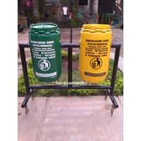 Jual tong sampah drum plastik 70 liter