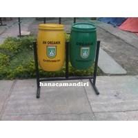Jual tong sampah drum plastik 60 liter