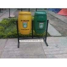 tong sampah drum plastik 60 liter