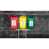 Jual tong sampah plastik HDPE 3 pilah