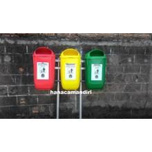 tong sampah plastik HDPE 3 pilah