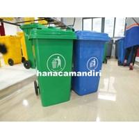 Jual Tong sampah roda plastik HDPE 120 liter