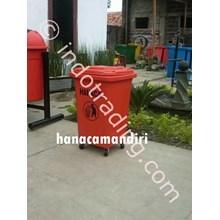 Tempat Sampah Fiberglass Roda 50 Liter