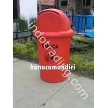 Tempat Sampah Fiberglass Bulat 70 Liter