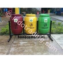 Tempat Sampah Drum Plastik 3 Pilah