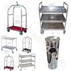 Trolley Hotel Bellman Trolley Bell Boy Trolley Luggage Trolley Makanan Room Boy Trolley
