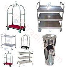 Trolley Hotel Bellman Trolley Bell Boy Trolley Luggage Trolley Makanan Room Boy Trolley