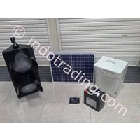 Jual Warning Light 30Cm 2 Aspek + Solar Panel 50Wp