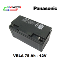 Jual Battery PANASONIC VRLA 75 Ah - 12V