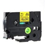 Pita Printer Brother Label Tape TZe-741 - 18 mm - Black on Yellow