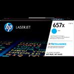 TONER PRINTER HP 657X Cyan Contract LaserJet Toner Cartridge