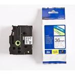 Pita Printer Brother Tinta Printer Label Tape TZE-161 - 36 mm - Black On Clear
