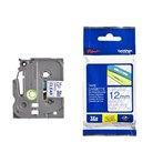 Pita Printer Brother Label Tape TZe-133 - 12 mm - Blue on Clear