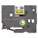 Pita Printer Brother Label Tape TZE-S661 - 36 mm - Strong Adhessive Black on Yellow