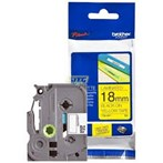 Pita Printer Brother Label Tape TZE-FX641- 18 mm - Flexible  Black on Yellow