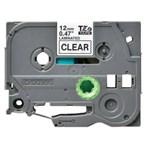 Pita Printer Brother Label Tape TZE-131 - 12 mm - Black On Clear