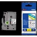 Pita Printer Brother Label Tape TZe-121 - 9 mm - Black on Clear